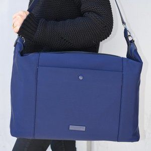 NWT Cole Haan Marine Blue Neoprene Travel Duffle